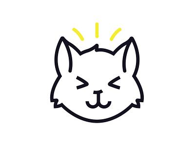 Cat logo vector illustration design logo cat
