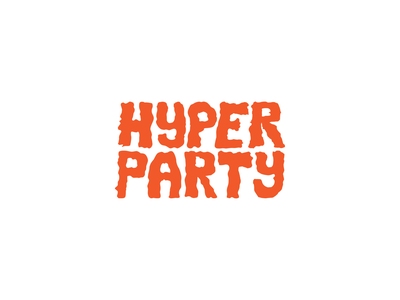 Hyper Party text logo logo design vector illustrator logotype design logo graffiti lettering