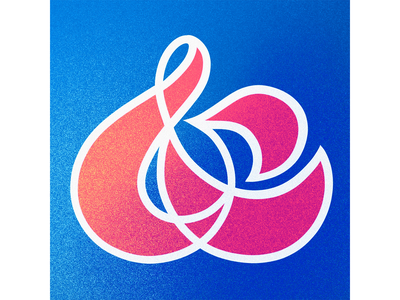 36 Days of Type: Ampersand red pink ampersand alphabet typografia blue logo 36daysoftype07 36daysoftype texture illustration typography calligraphy design handlettering lettering