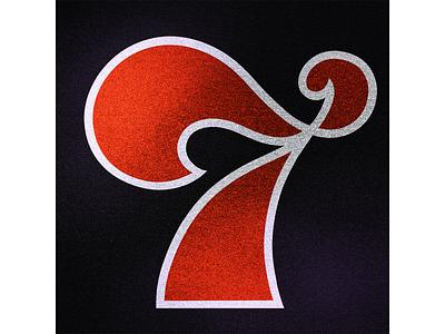 36 Days of Type: 7 texture black  white red black numeral number alphabet 36daysoftype07 36daysoftype branding calligraphy design logo illustration typografia handlettering typography lettering