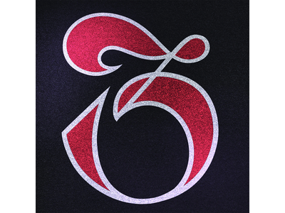 36 Days of Type: 3 bold red black textured 36daysoftype07 36daysoftype numeral number type texture illustration calligraphy logo design typografia handlettering typography lettering