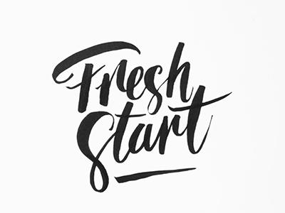 Fresh Start handlettering new year bold start fresh black january bw brush typography lettering