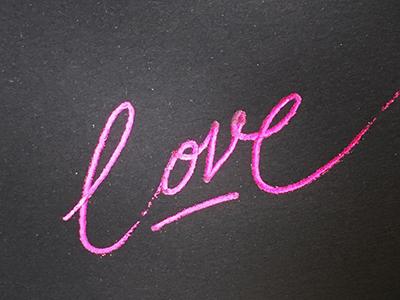 Love typografia kaligrafia milosc script calligraphy typography heatwavepen foil pink lettering love