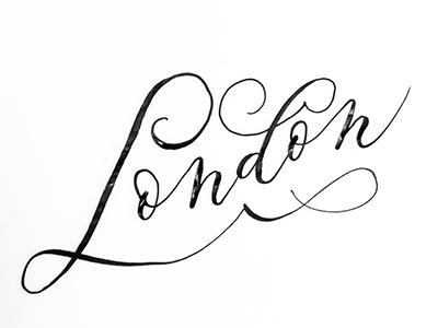 London elegant kaligrafia typografia ornament handlettering swash calligraphy typography lettering london