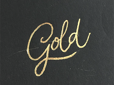 Gold blackandgold black elegant swash handlettering lettering calligraphy pen heatwave foil gold