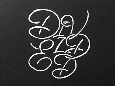 Divided white black blackandwhite bw handlettering calligraphy monoline swash divided lettering