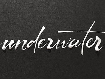 Underwater liquid water blackandwhite bw handlettering calligraphy gloopy ink white underwater challenge lettering