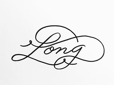 Long line white blackandwhite bw handlettering monoline calligraphy elegant swash long challenge lettering