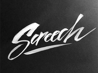 Screech contrast display white bw handlettering brush calligraphy inktober screech ink bold lettering
