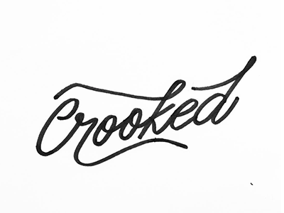 Crooked contrast display white bw handlettering pen calligraphy inktober monoline ink crooked lettering