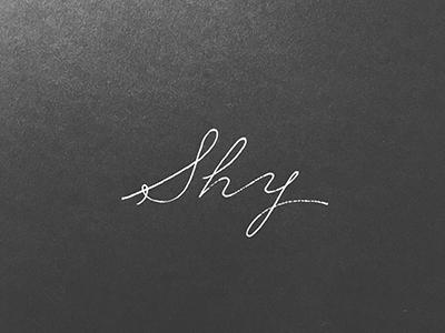 Shy contrast elegant white bw handlettering pen calligraphy inktober monoline ink shy lettering
