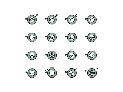 Festival icon Set creative viking youghal cork festival iconography iconset icons
