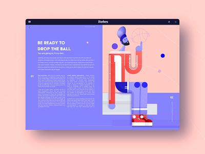 Magazine typogaphy online magazine forbes ball basketball magazine editorial illustration editorial design editorial