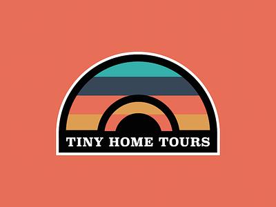 Tiny Home Tours travel house brand logo tours home tiny