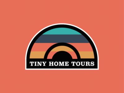 Tiny Home Tours travel house brand logo tours home tiny