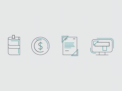 Icons website agency money icon