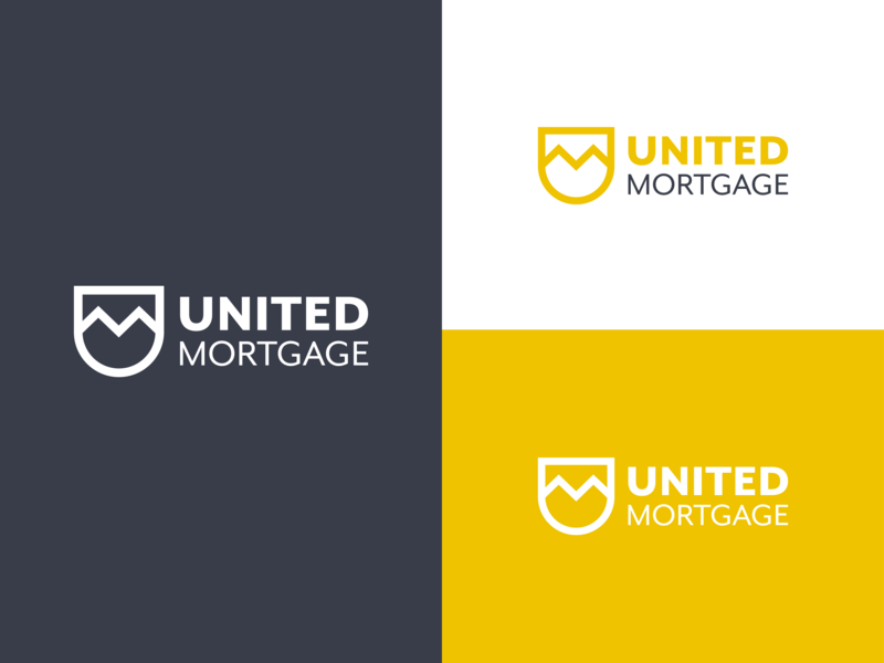United Mortgage vector design logo branding