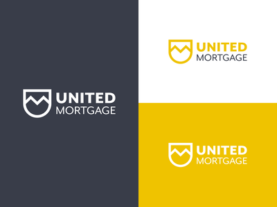 United Mortgage vector design logo branding