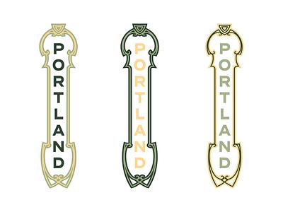 Portland illustration type theater sign portland