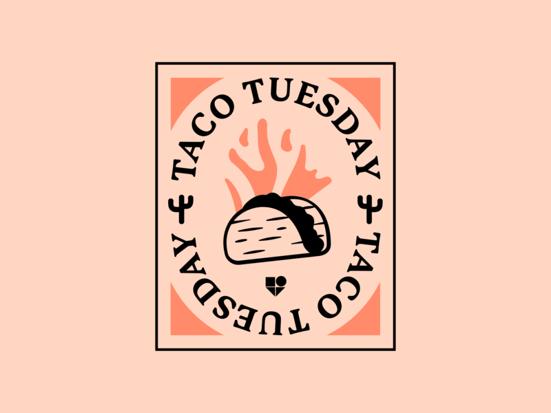Taco Tuesday food brand illlustration tuesday taco
