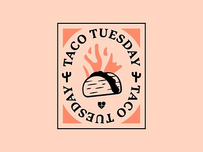 Taco Tuesday food brand illlustration tuesday taco