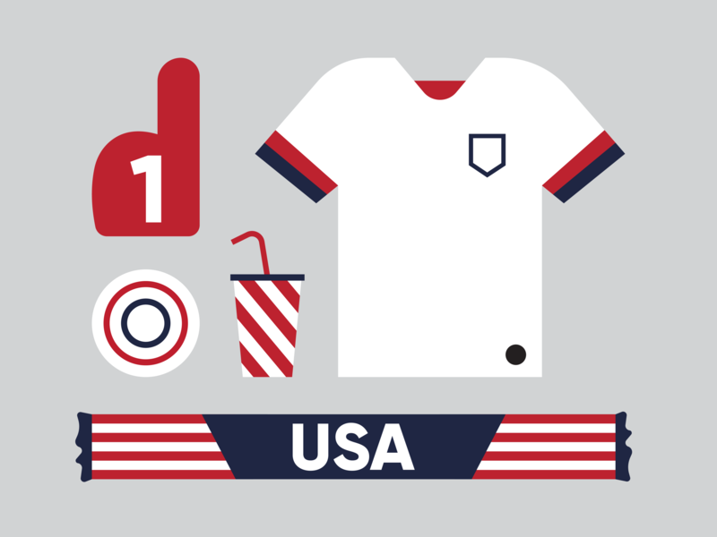 Game Day illustration design team cup world soccer usa