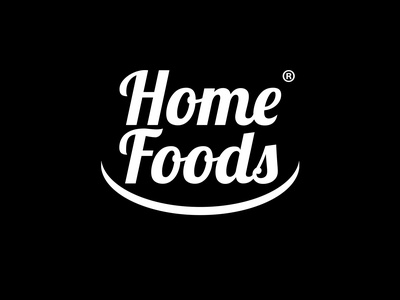 Home Foods Logo flat adobe photoshop vector minimal logodesign logo illustration adobe illustrator design branding