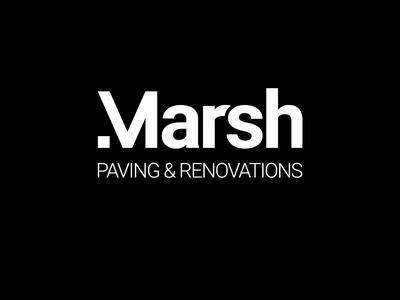 Marsh Paving Logo logo designer adobe photoshop vector minimal logodesign logo illustration adobe illustrator design branding