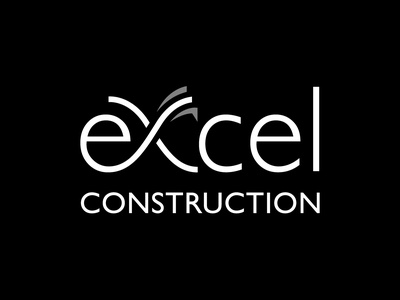 Excel Construction Logo logo designer flat adobe photoshop vector minimal logodesign logo illustration adobe illustrator design branding
