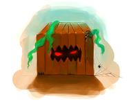 Evil Box Illustration