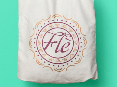 Flè • Brides & Productions logo design marriage bride african ethnic makeup