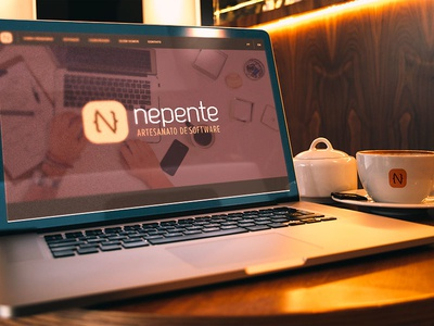 Nepente • Software Craftsmanship  software brand identity logo design