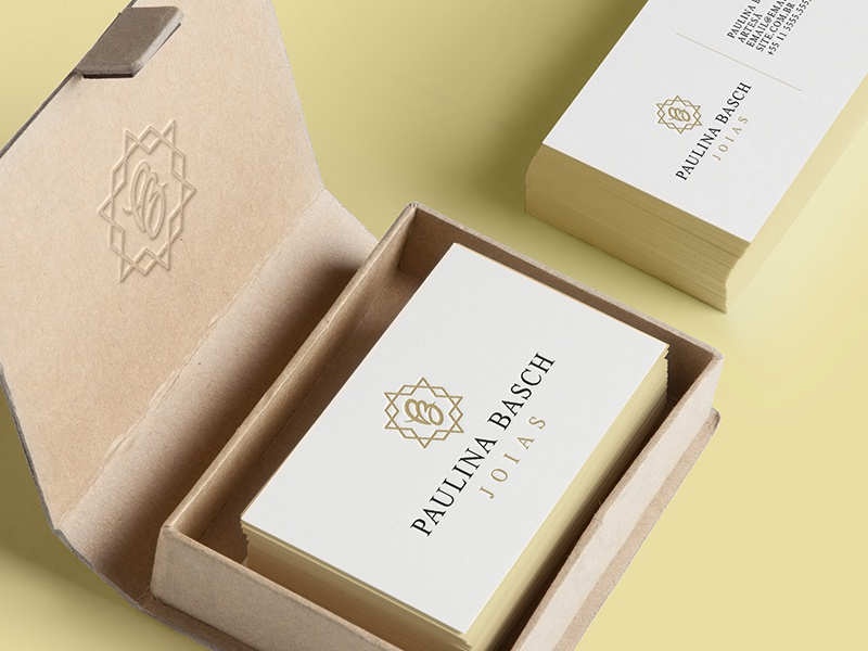 Paulina Basch Jewels  mockup brand identity logo design brand