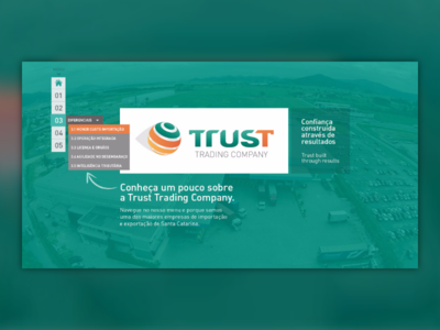 Trust online presentation ui presentaiton made with invision