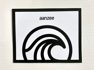 aanzee sea thick lines illustration logo logo design