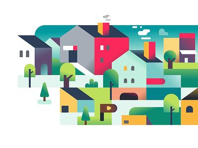 sub urban vector affinitydesigner illustration landing page