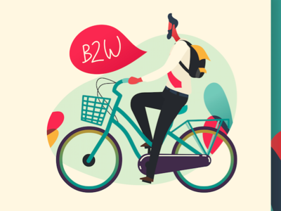 bike to work cycling bike to work biking affinitydesigner illustration vector landing page