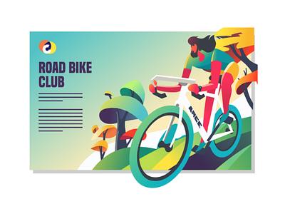 road bike bicycle exercise sport illustration affinity designer vector biking cycling road bike