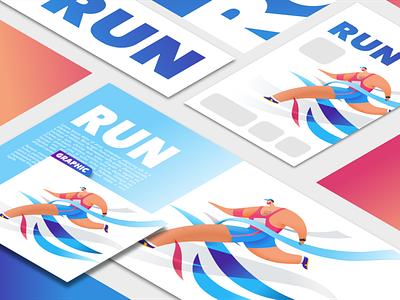 finish line running app illustration exercise running marathon