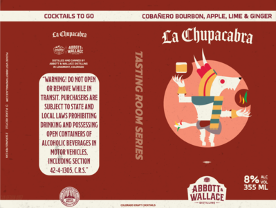 La Chupacabra Canned Cocktail colorado branding product design canned cocktail labels label design distillery mexico aztec cultures culture