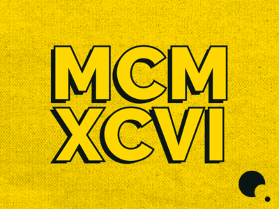 MCMXCVI simple roman numerals adobe graphics branding design