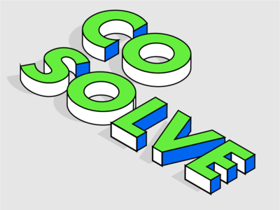 CoSolve Typography retro modern 3d bright minimalist design typography text
