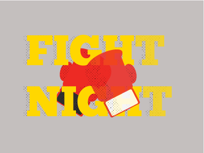 Fight Night halftone graphics photography event design illustrator fight