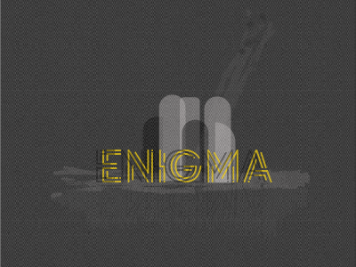 Enigma adobe illustrator typography art enigma