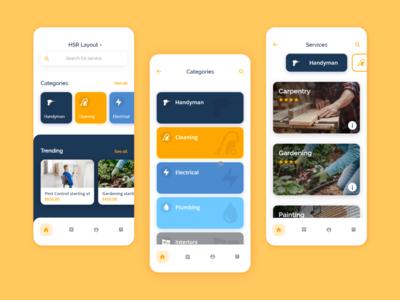 HomTech - On Demand Services App - Home