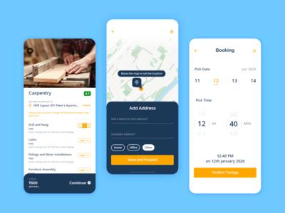 HomTech - On Demand Services App - Booking a Service