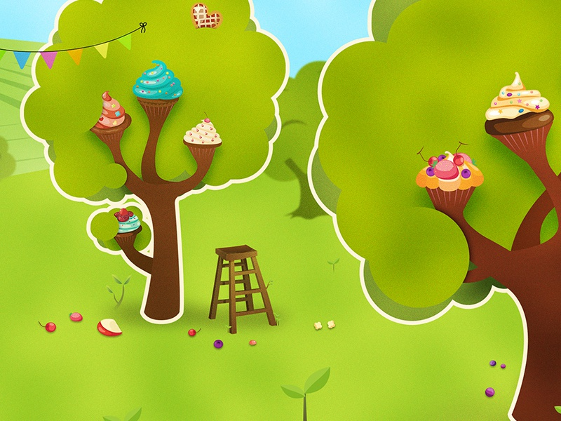 Cupcakes trees garden cake sweet candy candy crush orchards trees cupcakes cupcake