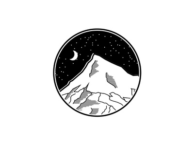 Mountain and the Night Sky