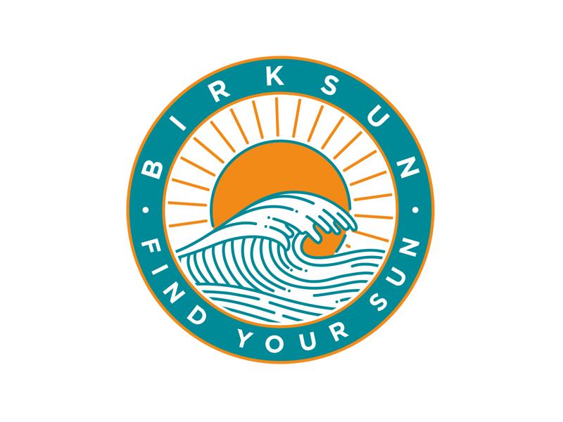 Birksun Find Your Sun Sticker letters typography lettering hand lettering type minimal simple line art illustration vector vector illustration