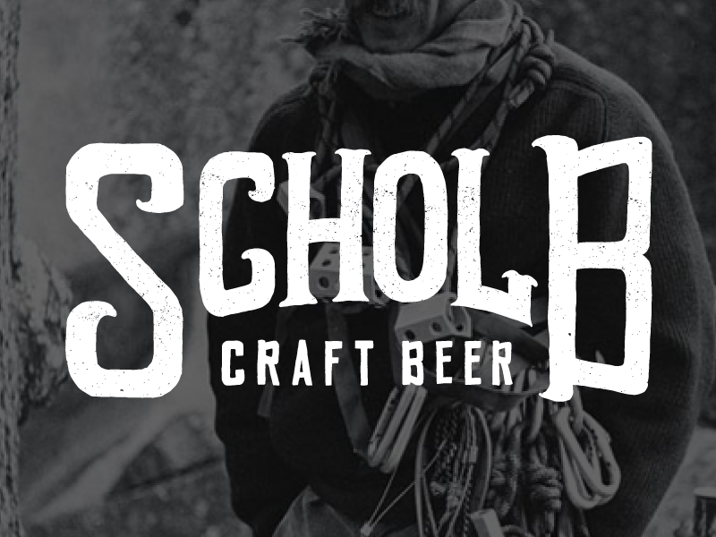 Scholb Craft Beer illustrated type typography letters lettering type illustration logo
